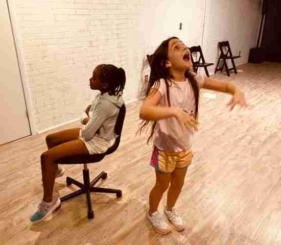 Kid Actor having fun in an acting class at Creative Veins Performing Arts