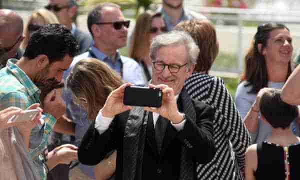 Spielberg Making Movies with a Cellphone